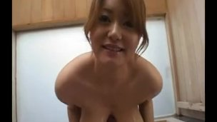 Natural big tits japanese in sexy lingerie