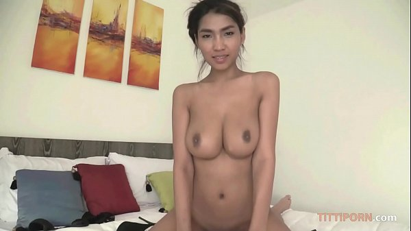 Thai perfect boobs bounces on cock 10 min